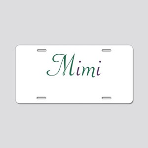 Mimi Green & Purple Aluminum License Plate
