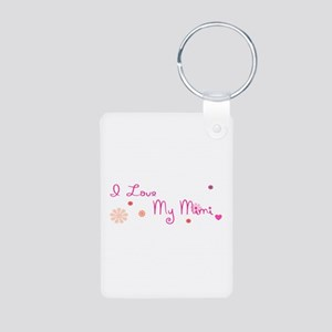 I Love My Mimi Aluminum Photo Keychain