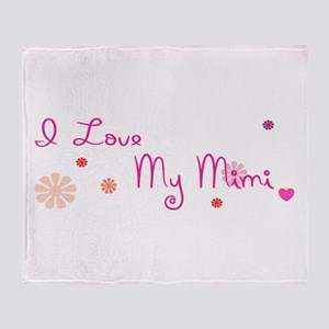 I Love My Mimi Throw Blanket