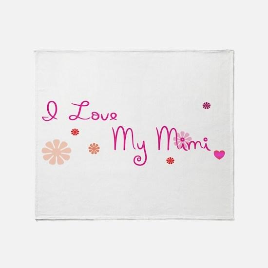 I Love My Mimi Throw Blanket