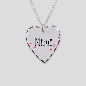 Mimi With Flowers Necklace Heart Charm