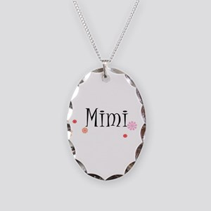 Mimi With Flowers Necklace Oval Charm