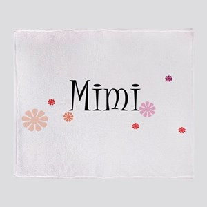 Mimi With Flowers Throw Blanket
