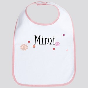 Mimi With Flowers Bib