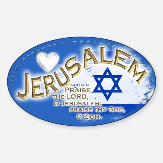 Jerusalem: Sticker (Oval)