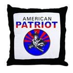 American Patriot Cameo Throw Pillow