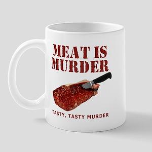 Meat is Murder Tasty Murder Mug
