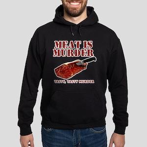 Meat is Murder Tasty Murder Hoodie (dark)