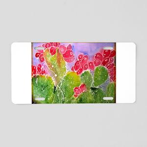 Cactus, southwest art, Aluminum License Plate