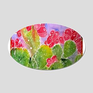 Cactus, southwest art, 22x14 Oval Wall Peel