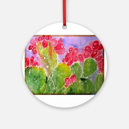 Cactus, southwest art, Ornament (Round)