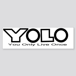 YOLO Black Sticker (Bumper)