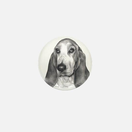 Bassett Hound Mini Button