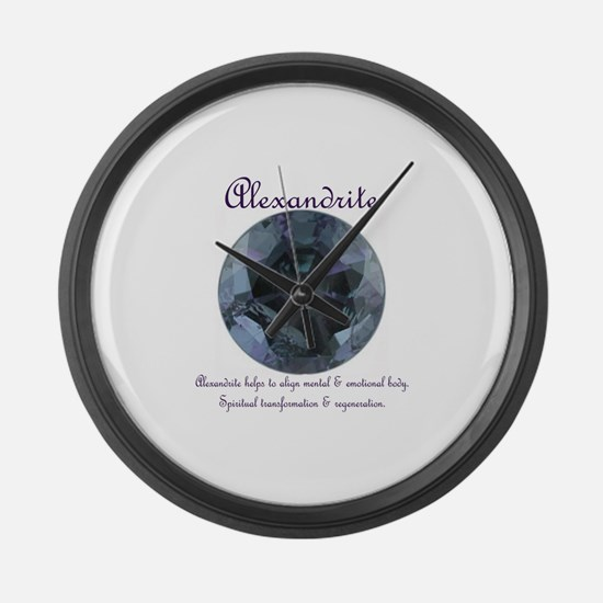 """""""Alexandrite Image & Meaning"""" Large Wall Clock"""