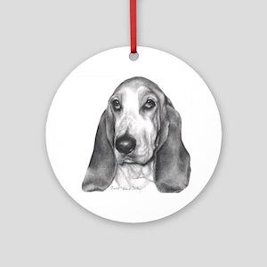 Bassett Hound Ornament (Round)