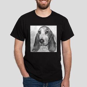 Bassett Hound Black T-Shirt