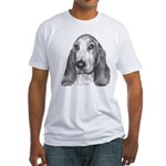 Bassett Hound Fitted T-Shirt