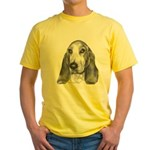 Bassett Hound Yellow T-Shirt