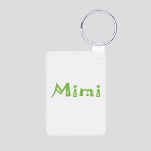 Green Mimi Aluminum Photo Keychain