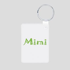 Green Mimi Aluminum Photo Keychain