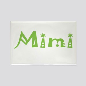 Green Mimi Rectangle Magnet