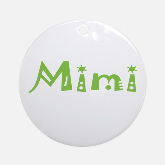 Green Mimi Ornament (Round)