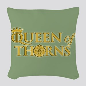 GOT Queen Of Thorns Woven Throw Pillow