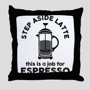 Step Aside Latte Throw Pillow