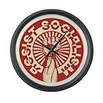 RESIST SOCIALISM Large Wall Clock