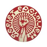 RESIST SOCIALISM Ornament (Round)