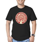 RESIST SOCIALISM Men's Fitted T-Shirt (dark)