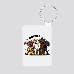 Love Labradoodles Aluminum Photo Keychain