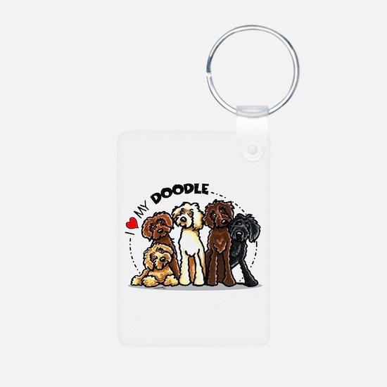 Love Labradoodles Keychains