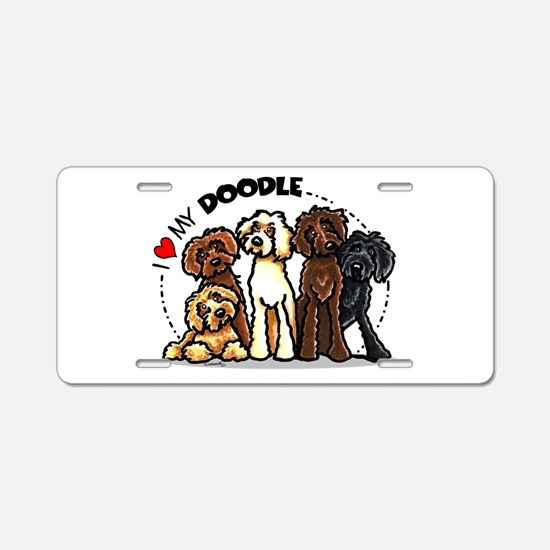 Love Labradoodles Aluminum License Plate