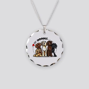 Love Labradoodles Necklace Circle Charm