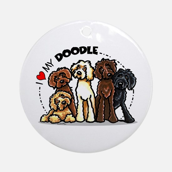 Love Labradoodles Ornament (Round)