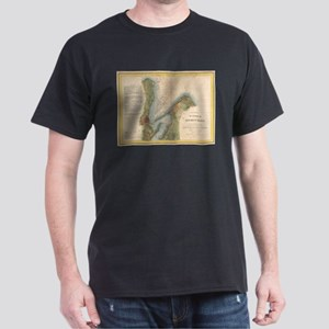 Vintage Martha's Vineyard Holmes Hole Map T-Shirt