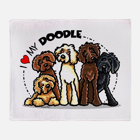 Love Labradoodles Throw Blanket