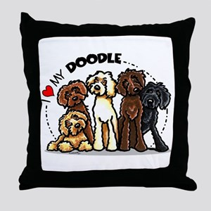 Love Labradoodles Throw Pillow