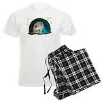 Spaceship Abby Men's Light Pajamas