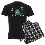 Spaceship Abby Men's Dark Pajamas