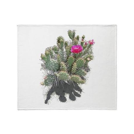 Nevada cactus Throw Blanket