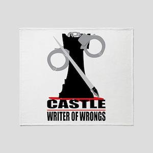 Castle: Writer of Wrongs Throw Blanket