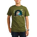 Spaceship Abby Organic Men's T-Shirt (dark)