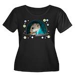 Spaceship Abby Women's Plus Size Scoop Neck Dark T