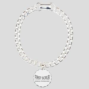 1st Scrub - black Charm Bracelet, One Charm