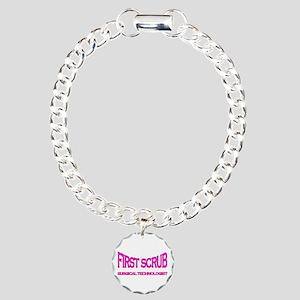 1st Scrub -pink Charm Bracelet, One Charm