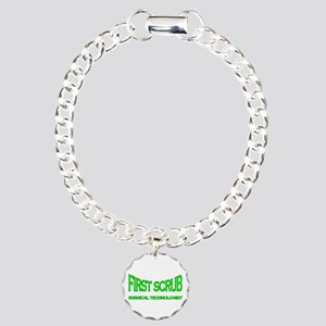 1st Scrub - green Charm Bracelet, One Charm
