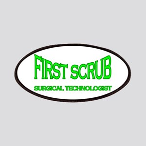 1st Scrub - green Patches