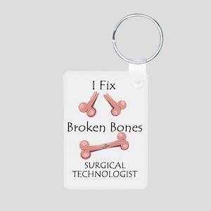 Broken Bones ST Aluminum Photo Keychain